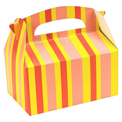 8 ct Orange Striped Favor Boxes - image 1 of 1