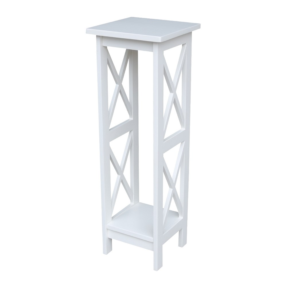 Image of 36 X - Sided Plant Stand - Snow White - International Concepts