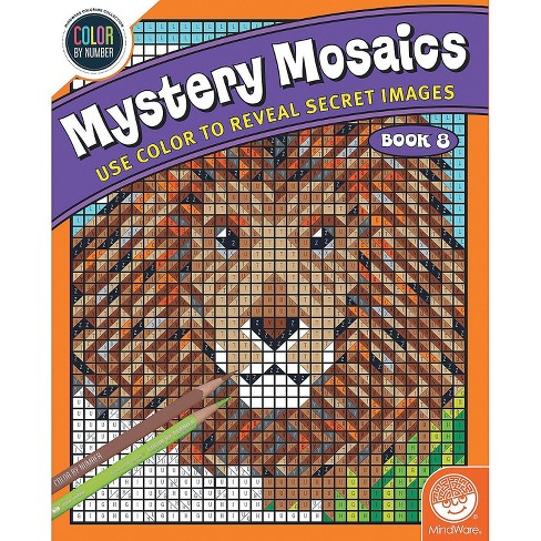 MindWare Color By Number Mystery Mosaics: Book 8 - Coloring Books - image 1 of 3