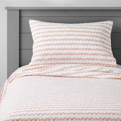Rainbow Scallop Cotton Sheet Set - Pillowfort™