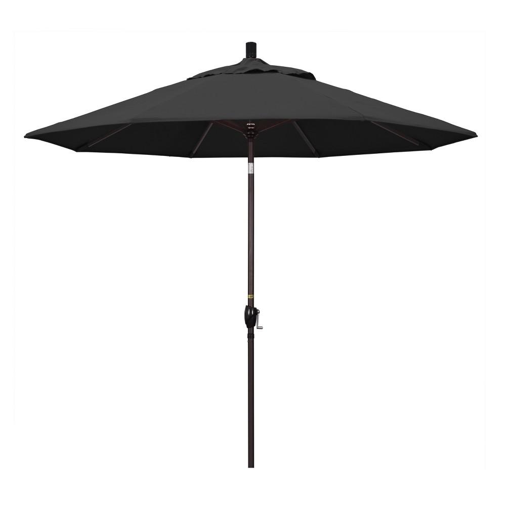 Image of 9' Aluminum Push Tilt Patio Umbrella - Black
