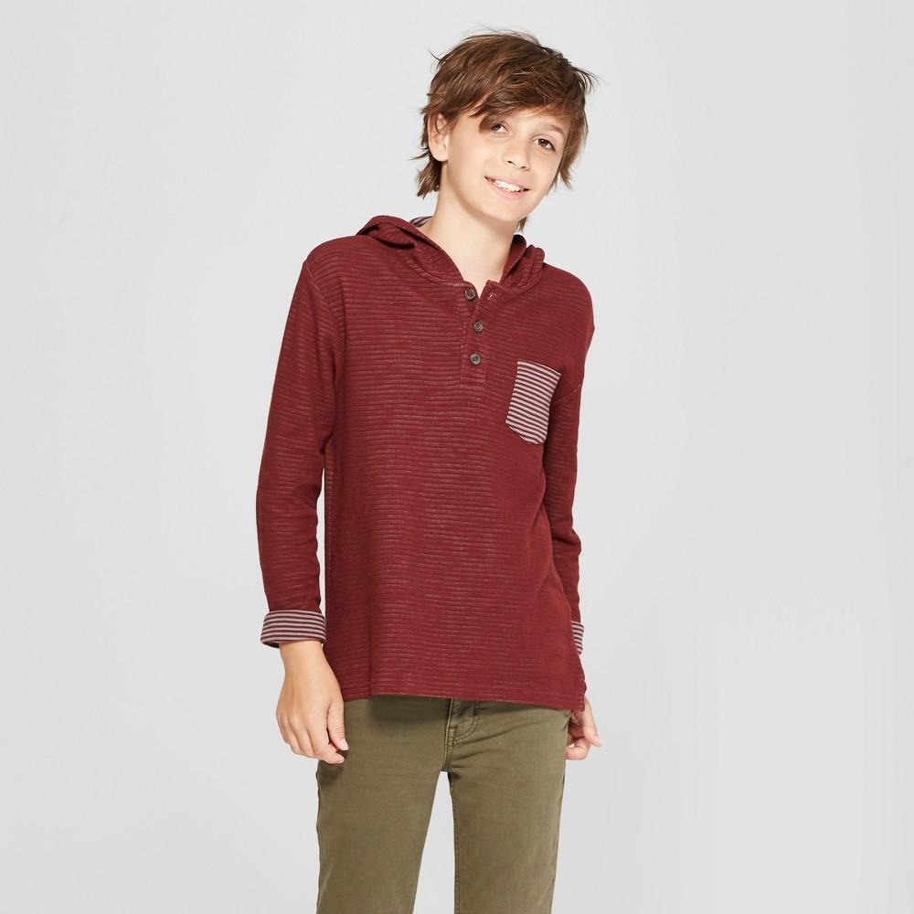 Boys' Long Sleeve Sweatshirt - Cat & Jack Maroon Xxl, Red