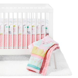 Crib Bedding Set Forest Frolic 4pc - Cloud Island™ Pink