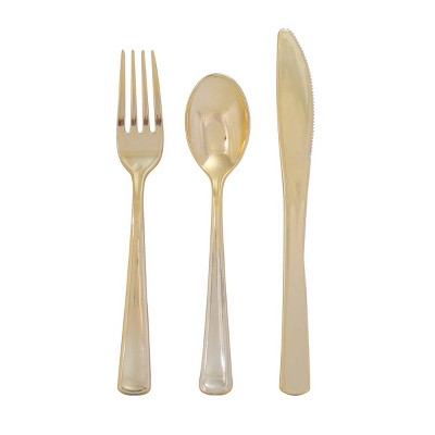 60ct 'New Year's Eve' Cutlery Gold - Spritz™