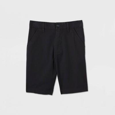 Boys' Flat Front Stretch Uniform Shorts - Cat & Jack™ Black