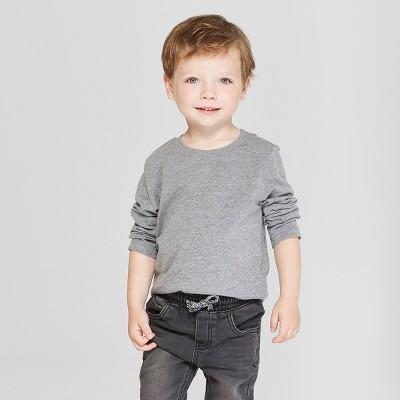 Toddler Boys' Long Sleeve T-Shirt - Cat & Jack™ Gray 18M