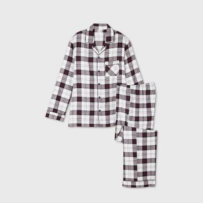 Men's Holiday Plaid Flannel Matching Family Pajama Set - Wondershop™ White XL
