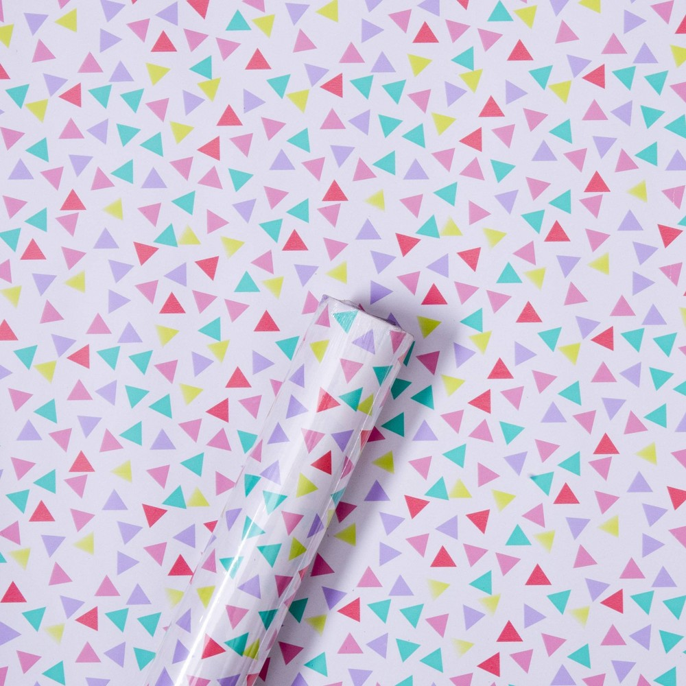 Image of Triangle Confetti Gift Wrap - Spritz