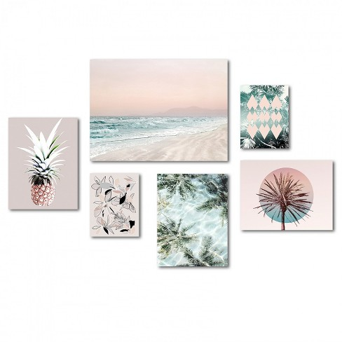Americanflat Tropical Beach Canvas Gallery Wall Set By Hope Bainbridge Target