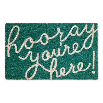 Hooray Green Doormat - (18x30)- Room Essentials™