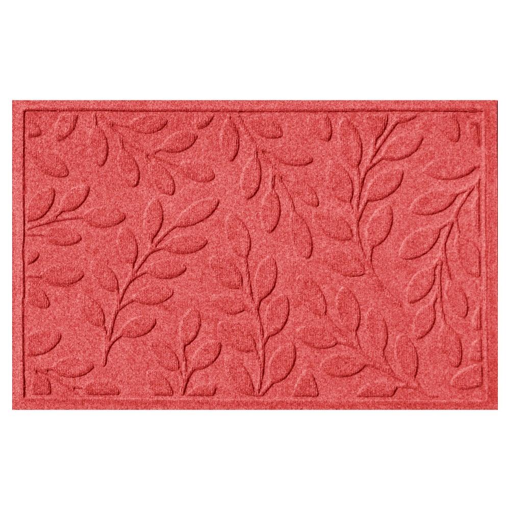 Solid Red Botanical Doormat - (2'X3') - Bungalow Flooring
