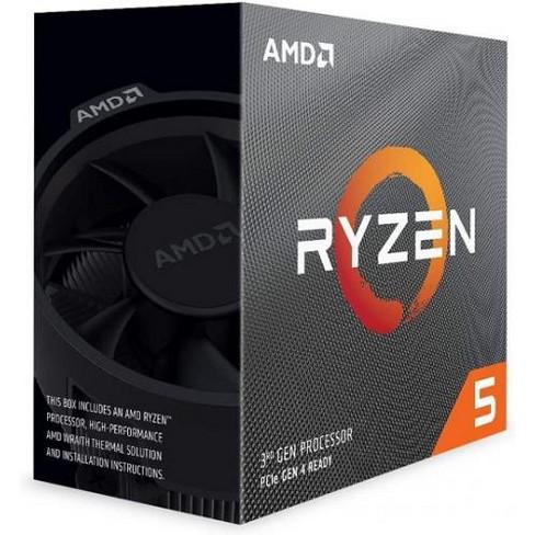 AMD Ryzen 5-3600 Unlocked Desktop Processor w/ Wraith Stealth Cooler - 12 Threads & 6 Cores - 3.6 GHz- 4.20 GHz Clock Speed - image 1 of 4