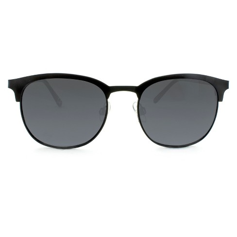 Women's Clubmaster Sunglasses - A New Day™ Black - image 1 of 3