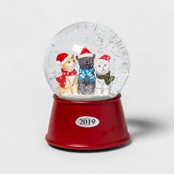 "5.5"" x 3.8"" Bundled-Up Cats Musical Snow Globe - Wondershop™"