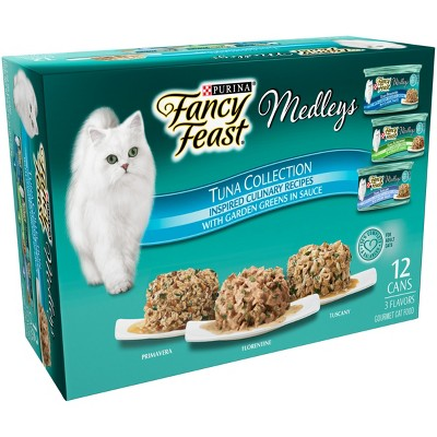 Purina Fancy Feast Elegant Medleys Tuna Recipe Variety Collection Wet Cat Food - 3oz cans / 12pk