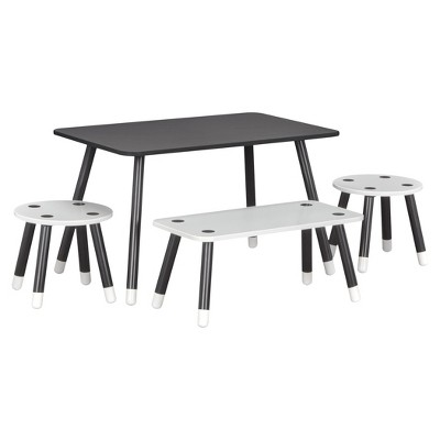 Clover Kids Chalkboard Top Play Table and Bench Set - Little Seeds