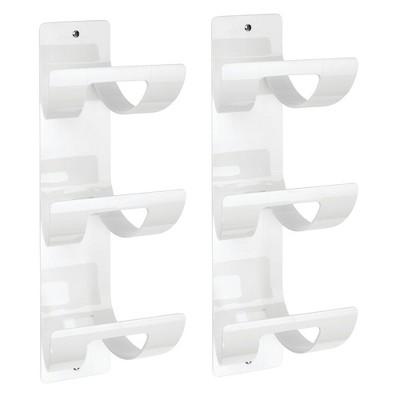 mDesign Modern Three Level Bathroom Wall Mount Towel Rack Holder & Organizer