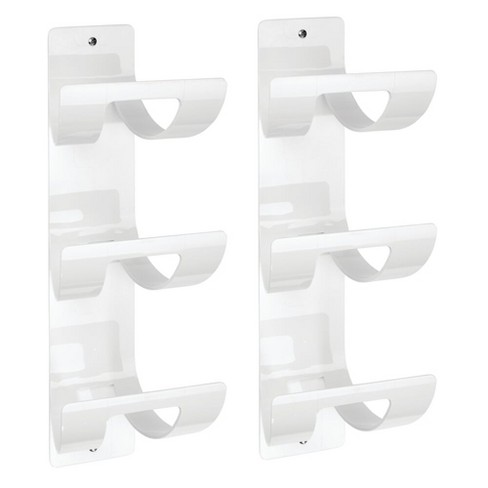 Mdesign Plastic 3 Level Bathroom Wall, Bathroom Wall Towel Rack
