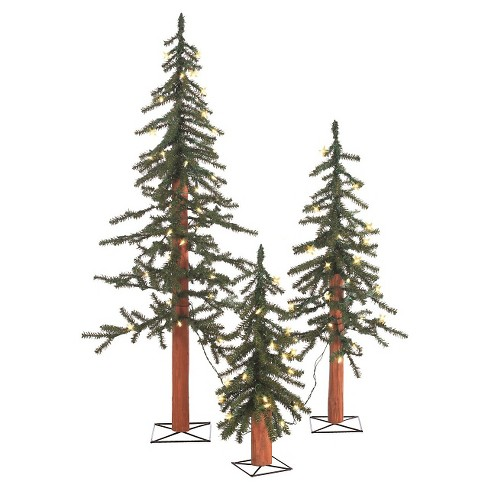 2ft/3ft/4ft Pre-Lit Alpine Spruce Artificial Christmas Tree Slim with White  Lights - 2ft/3ft/4ft Pre-Lit Alpine Spruce Artificial Christmas Tree Slim