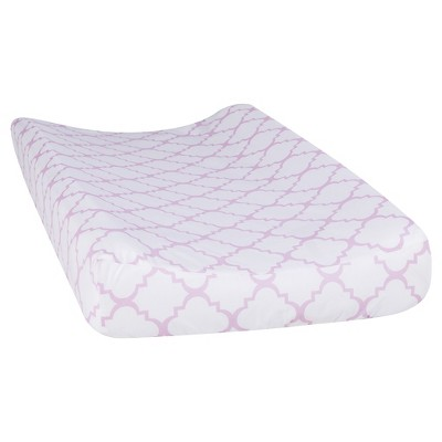 Trend Lab Orchid Bloom Changing Pad Cover - Quatrefoil