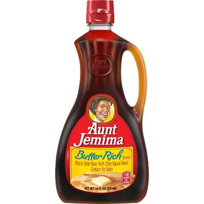 Honeys & Syrups: Aunt Jemima Butter Rich Syrup