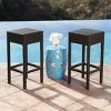 Cailen Outdoor Wicker Bar Stools (Set of 2) - Espresso - Abbyson Living - image 3 of 4