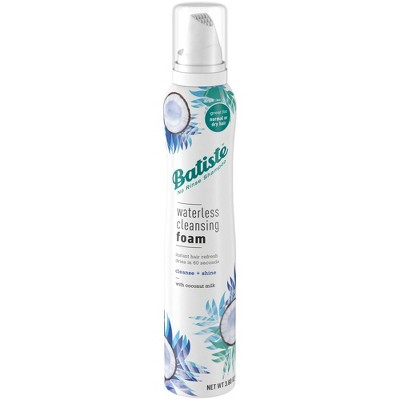 Batiste Cleanse + Shine with Coconut Milk Waterless Cleansing Foam - 3.6oz