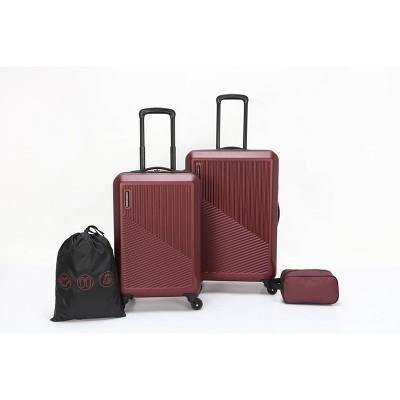 Skyline Hardside 4pc Luggage Set - Pomegranate