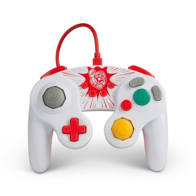 PowerA Wired GameCube Style Controller for Nintendo Switch - Mario - White/Red