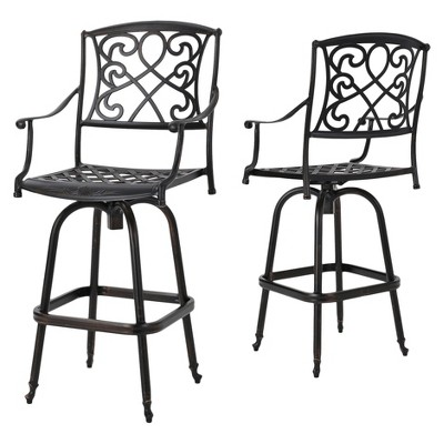 santa-maria-set-of-2-cast-aluminum-patio-bar-stools---shiny-copper---christopher-knight-home by shiny-copper