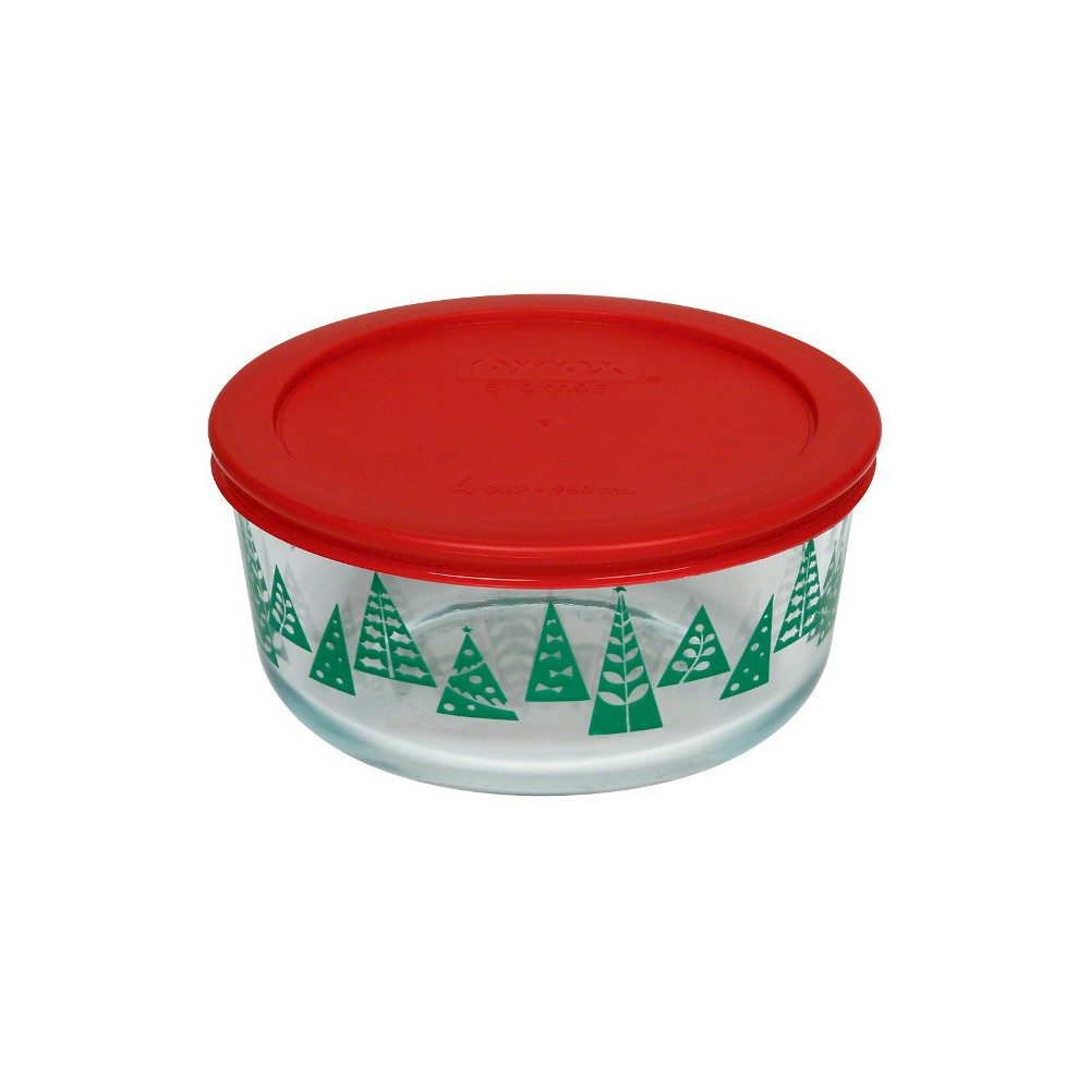 Food Storage Container Pyrex Green