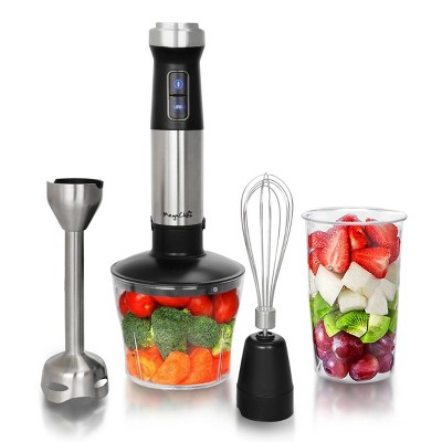 MegaChef 4-in-1 Multipurpose Immersion Hand Blender - Silver