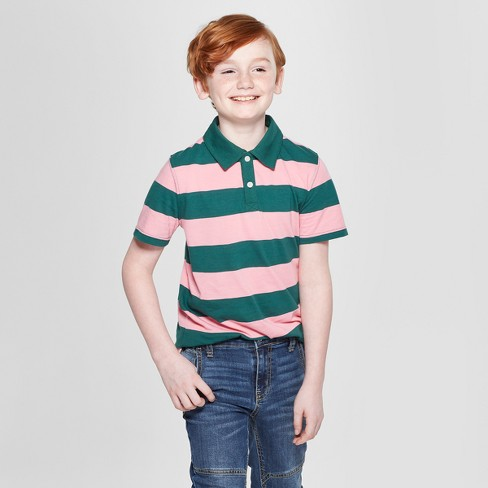 Boys' Short Sleeve T-Shirt - Cat & Jack™ Pink/Green - image 1 of 3