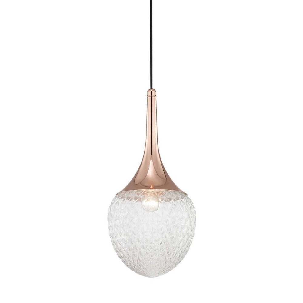 Bella 1-Light Pendant Chandelier Style B Polished Copper - Mitzi by Hudson Valley Buy
