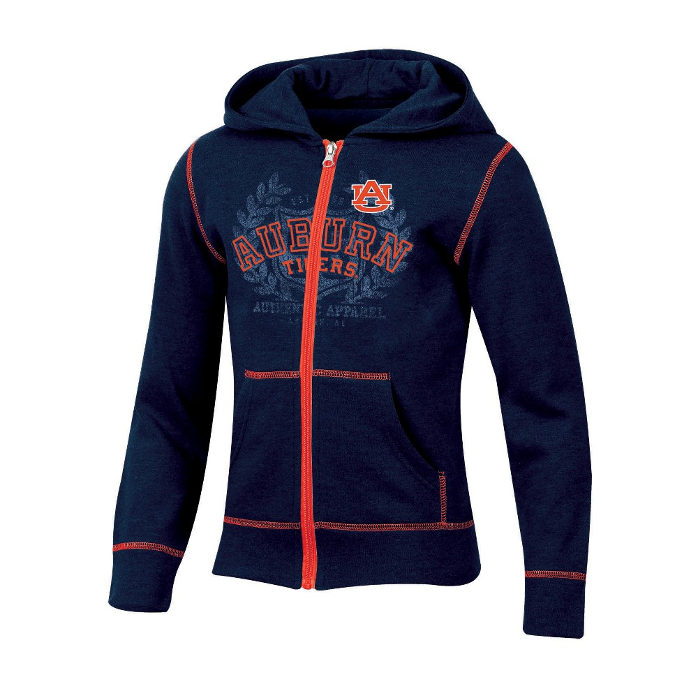 Auburn Tigers Girls' Long Sleeve Full Zip Hoodie - XL, Multicolored