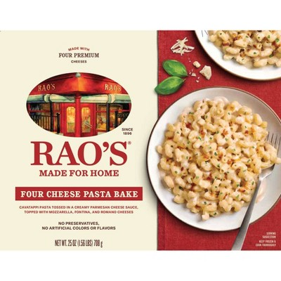 Rao's Made for Home All Natural Frozen Pasta Meal Four Cheese Pasta Bake - 25oz