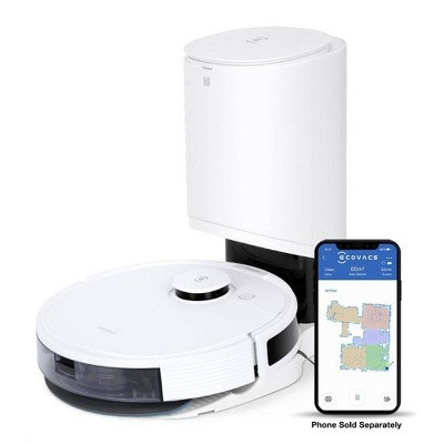 Ecovacs DEEBOT N8+ Laser Mapping Vacuuming and Mopping Robot with Self Empty - White