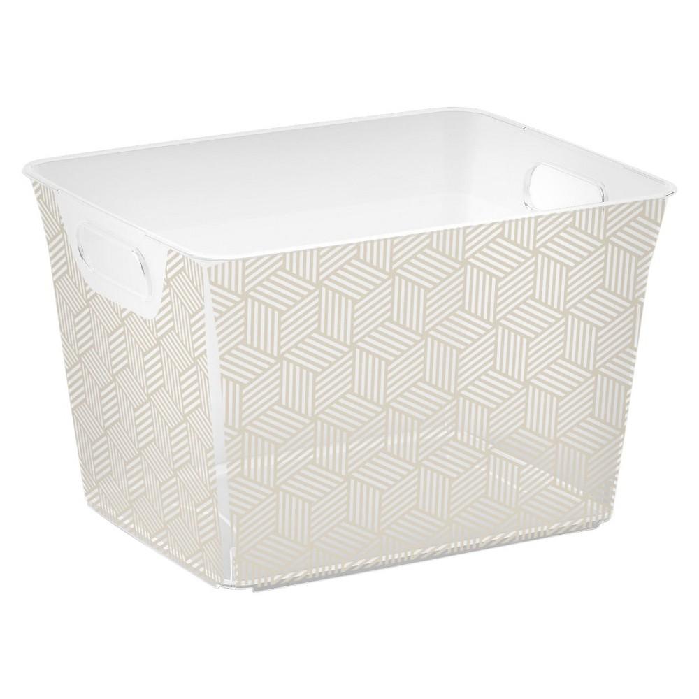Best Sale Cube Storage Bin Gray Geometric M Kis