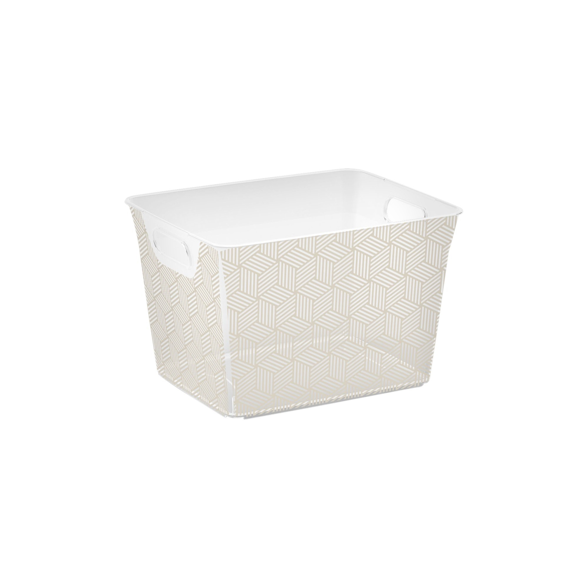 Cube Storage Bin - Gray Geometric - M -Kis