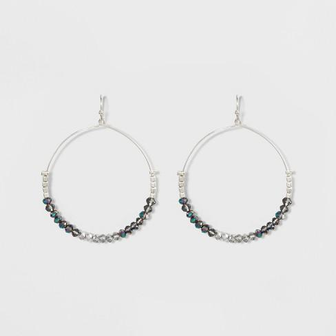 Glitzy Earrings A New Day Blue Silver