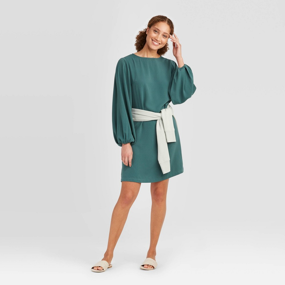 Women's Long Sleeve Dress - A New Day Green M was $27.99 now $19.59 (30.0% off)