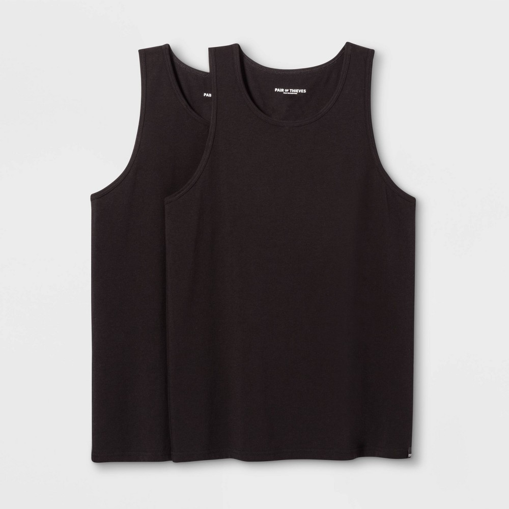 Image of Pair of Thieves Men's Tank Undershirt 2pk - Black L, Size: Large