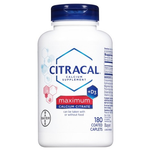 Citracal® Calcium Citrate Dietary Supplement Tablets - 180ct - image 1 of 1