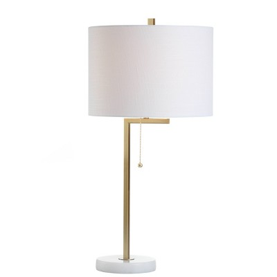 """24.5"""" Metal/Marble Alyssa Table Lamp (Includes LED Light Bulb)Gold - JONATHAN Y"""