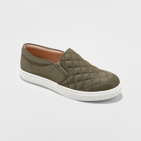 Women's Reese Quilted  Sneakers - A New Day™ Green 7 - image 1 of 3