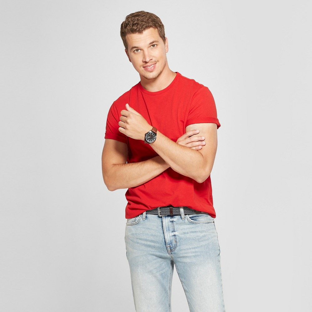 Men's Standard Fit Crew Short Sleeve T-Shirt - Goodfellow & Co Ripe Red L