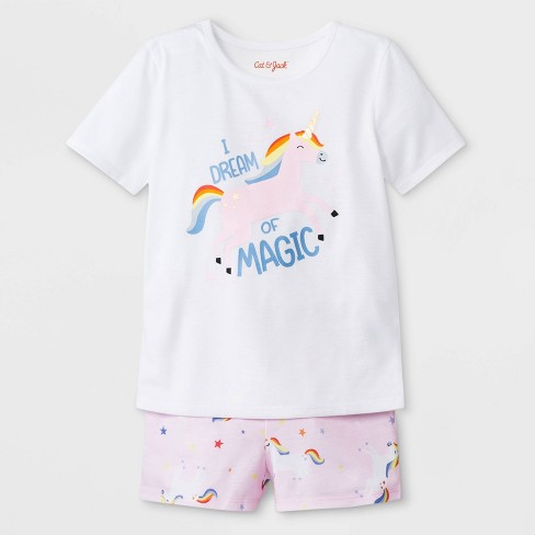 d9238612518f Toddler Girls  I Dream Of Magic Jersey With Unicorn Printed Bottom ...
