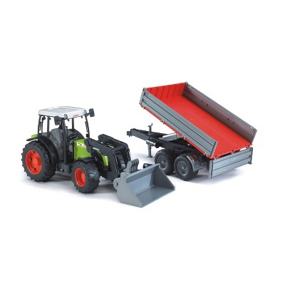 Bruder CLAAS Nectis 267 F Farm and Construction Tractor with Frontloader and Tipping Trailer 02112