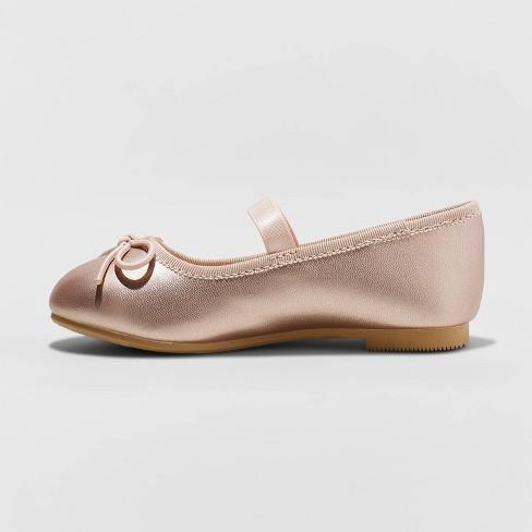 a54140fe29cc1 Toddler Girls' Becca American Girl Ballet Flats - Cat & Jack™ Rose Gold 10