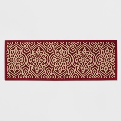 60 x22  Medallion Kitchen Runner Red - Threshold™